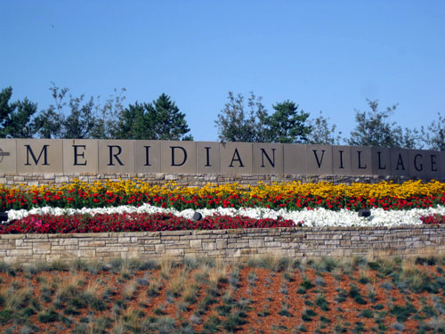 Meridian Village Neighborhood Entrance