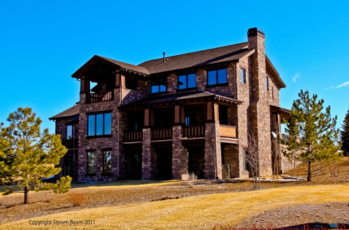 Custom home in The Timbers