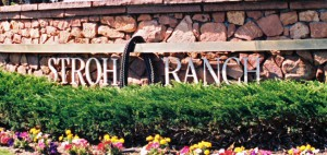 Sign at the entrance to the Stroh Ranch neighborhood in Parker, Colorado.