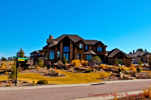 Custom home located in The Timbers neighborhood in Parker, Colorado.
