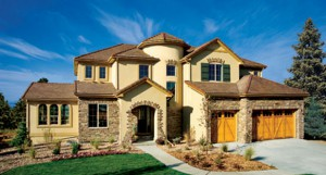 Toll brother built home in Pine Bluffs neighborhood in Parker, CO.