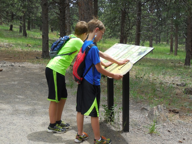 Kids hiking in Colorado
