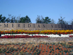 Meridian Village Neighborhood main entrance Parker, CO.