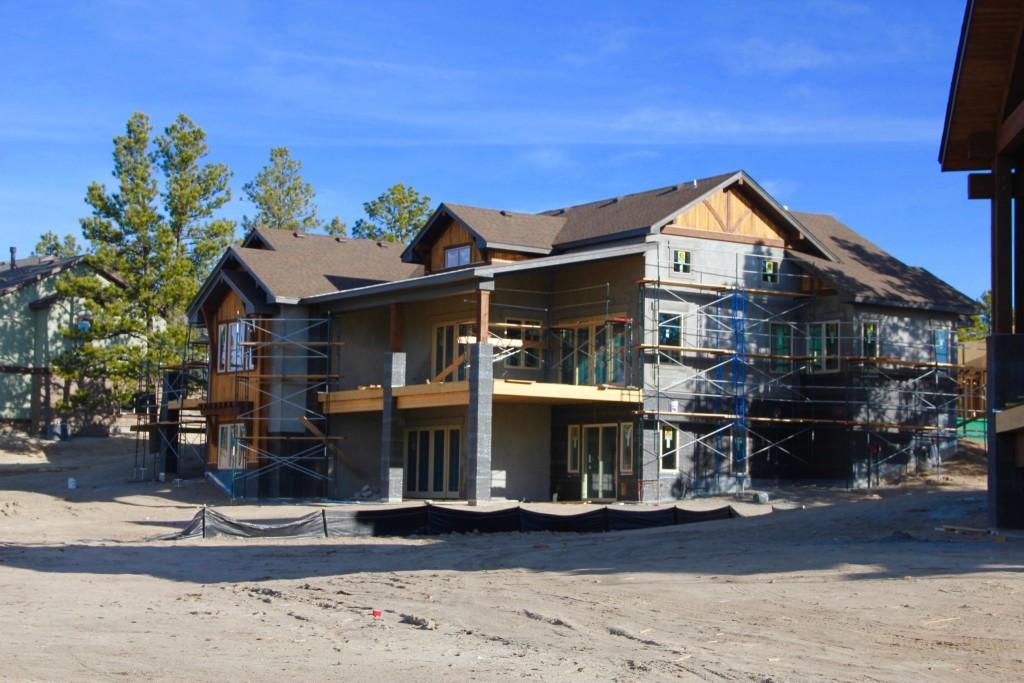 Custom home being built in The Timbers neighborhood