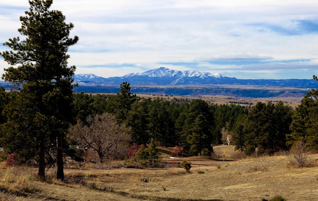 Pikes Peak as seen from The Timbers neighborhood.