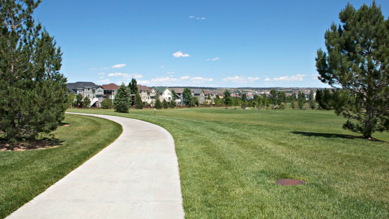Cherry Creek Bike Path in Parker Colorado