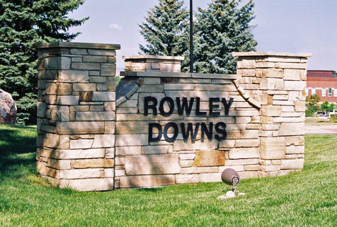 Rowley Downs neighborhood Sign