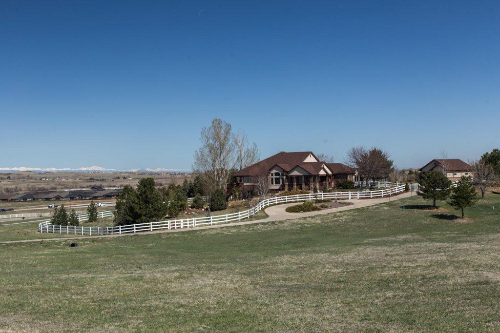 Custom home in High Prairie Farms