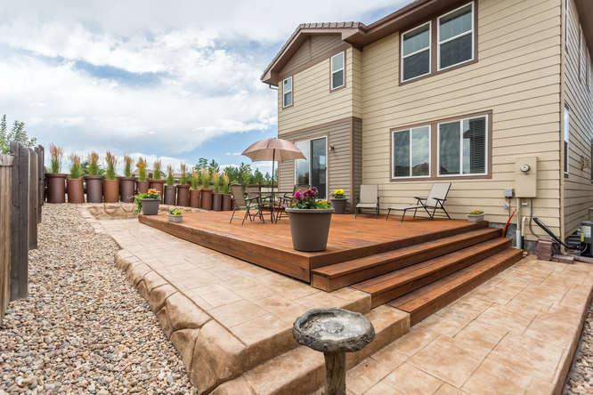 Meridian Village back deck